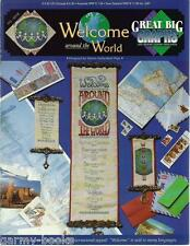 Welcome around the World Languages Great Big Graphs Cross Stitch Patterns NEW
