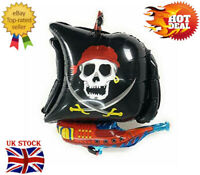 Happy Halloween Ghost Spooky Aluminum Foil Balloon Decoration (Pirate Boat)