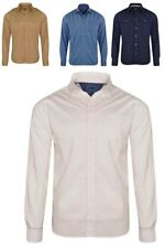 Mens Ex-MAX Long Sleeve 100% Cotton Casual Single & Double Pocket Shirts
