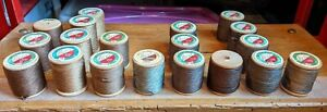 Lot of 19 Vintage Rice's Silk Twisted Button Hole Thread - New - 33 Yds