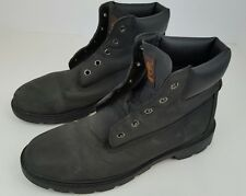"Timberland Boys Size 7 Grade School Black Leather 6"" Classic Boots 10910 2959"