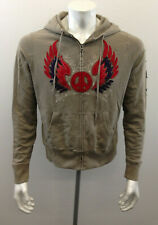 Lucky Brand Men's Large Brown Graphic Eagle Hoodie Sweatshirt