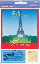 ~ Paris Eiffel Tower France Travel Holiday Cardstock Stickers Mrs Grossman ~