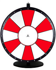 36 Inch Red and White Portable Dry Erase Spinning Prize Wheel
