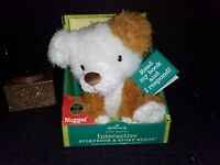 Nugget Stuffed Puppy Dog  Hallmark Interactive Storybook Buddy, Talks, Read Book
