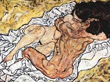 Egon Schiele The Embrace Old Master Painting Reproduction Canvas Art Print