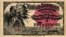 1893 Serial # 300 4 Piece Columbian Expo Ticket Set - ABNCo
