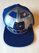 Star Wars R2D2 Lucas Film Official Snapback Baseball Cap Hat Blue Flat Bill