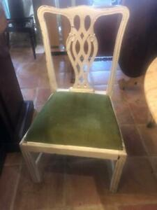 Set of 8 Hand Painted Dining Chairs