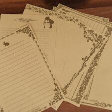 8sheets Vintage Antique Letter Pad/Paper Letter Form/ Note Paper/Writing Paper