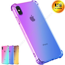 For iPhone 6 6S 7/8 Plus X Shockproof Slim Protective No-Slip Hybrid Case Cover