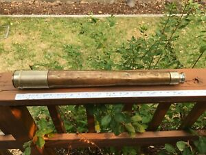 Vintage Emil Busch A - G RATHENOW SPYGLASS brass nickel M1326