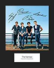 THE VAMPS #1 10x8 SIGNED Mounted Photo Print - FREE DELIVERY