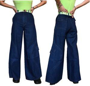 Ladies Girls Mens Vintage 90s baggy skater jeans denim trousers deadstock