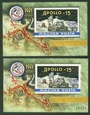 Hungary #C312, Moon Landing Souvenir sheet both perf & Imperforate, og, Nh, Vf,