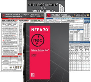 NFPA 70 2017: National Electrical Code, NEC, Spiralbound, NEC Fast Tabs, NEC and