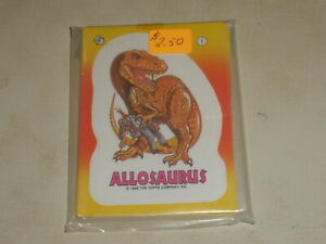 VINTAGE Dinosaurs Attack! Complete Set of 11 Stickers 1988 RARE TOPPS Horror