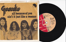"""GEORDIE -All Because Of You / Ain't It Just Like A Woman- 7"""" 45  Denmark"""