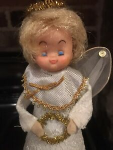 Beautiful Retro Vintage Christmas Fairy Angel Tree Topper Decoration