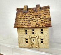 Windy Meadows Pottery Village Tea Light Salt Box House VTG 70s Jan Richardson