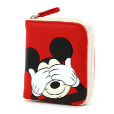 Disney Mickey Mouse Red Small Wallet Purse Business Credit Id Card Coin Money