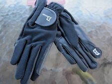 Equestrian Baslong Horse Riding Gloves Black Size XS B on Thumb & Index Finger T