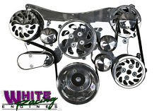 OLDSMOBILE BILLET SERPENTINE PULLEY KIT w/WP, PS, ALT AND A/C # WPM-6000-POL