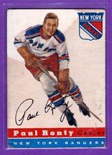 1954-55 TOPPS VINTAGE HOCKEY CARD# 15 PAUL RONTY (NEW YORK RANGERS)