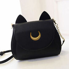 Black Sailor Moon Messenger Bag Samantha Vega Luna Shoulder Women PU Leather Bag