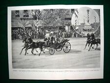 Budapest nel 1897 - Visita reali di Rumelia all'imperatore Giuseppe