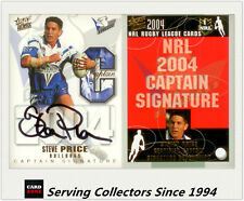 2004 Select NRL Authentic Captain Signature Card CRS2 Steve Price-Ultra Rare!