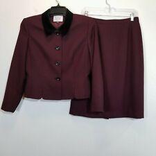 LE SUIT Womens Vintage Career Skirt Suit Size 8P Lined Tweed Blazer & Skirt