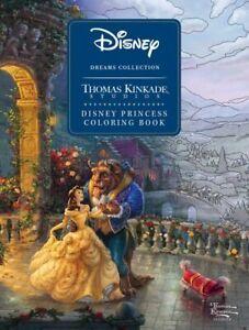 Disney Dreams Collection Thomas Kinkade Studios Disney Princess Coloring Book...