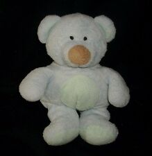 TY PLUFFIES 2002 BABY BLUEBEARY TEDDY BEAR BLUE GREEN STUFFED ANIMAL PLUSH TOY