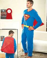 Men's Superman Pajamas - One Piece Superman Pajamas - DC Comics Superman Pj's