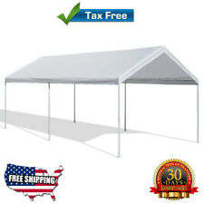 Caravan Canopy 10 X 20 Feet Domain Carport White Garage Enclosure Shelter Tent