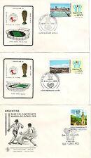 Fußball, WM, 1978, Argentinien, Fußball-Weltmeisterschaft, 10 Kouverts, Stadien