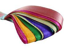SATIN RIBBON MIX BUNDLE 12mm x 1m Assorted 10 Cut Stripes Craft Art 2 Free Rolls