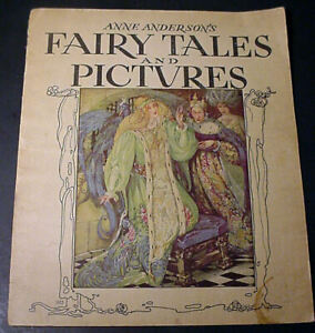 """1935 Anne Anderson's """"FAIRY TALES and PICTURES"""" Whitman Publishing, Illustrated"""