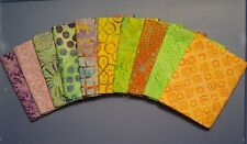 """TAHITI BATIKS"" Group 2, 10 Fat Quarters Timeless Treasure Tonga , 100% Cotton"
