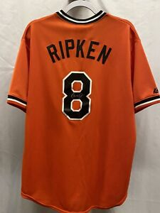 NWT Cooperstown Collect Cal Ripken Jr Autographed Baltimore Orioles Jersey (Lg)