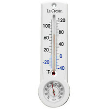"T83745 La Crosse 8.75"" Indoor/Outdoor Thermometer & Hygrometer with Key Hider"