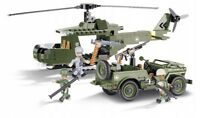 COBI 24254 SMALL ARMY JEEP WILLYS MB WITH HELICOPTER
