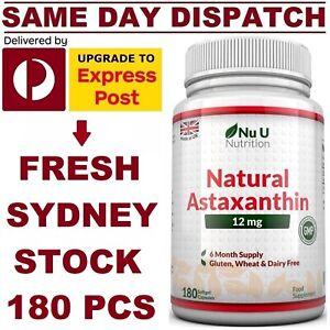 Nu Nutrition Astaxanthin 12mg 180 Softgels MAXIMUM Strength MEGA VALUE AU STOCK!