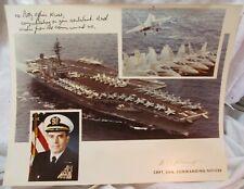 Uss Constellation Cvn-64 Aircraft Carrier Official Photo Commanding Officer Sign
