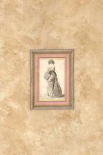 NOBILIS MULIER ANGLICA - Costume - HOLLAR WENZEL - Incisione Originale 1649