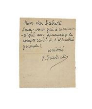 Puvis de CHAVANNES / Lettre autographe signée / Peinture / Dubufe / 1890 / Paris