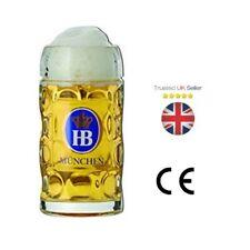 Hofbrauhaus Oktoberfest Stein Glass 35oz / 1ltr - Beer Tankard X2