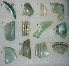 lot of 12 ancient roman glass fragments with very lovely patina amazing.