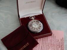 "Superb Vintage Sterling Silver ""Jean Pierre"" Demi-Hunter pocket watch, Box etc"